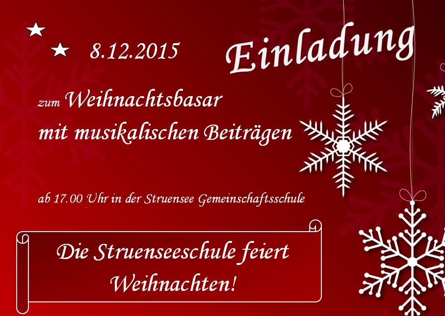struensee gemeinschaftsschule » die struenseeschule feiert weihnachten, Einladungen